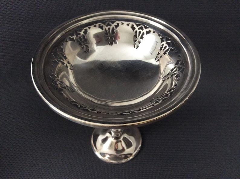 Antique Sterling Silver Pedestal Compote Dish  Nut Bon Bon dish  Charcuterie  Dining  Centre Piece