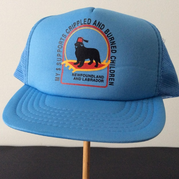 dad327aaa0299 Vintage Newfoundland Cap My Dollars Support Crippled and