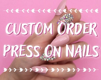 Custom Nails Etsy