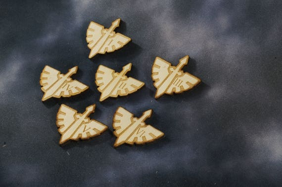 Legion specific coloured Warhammer 40K Objective Markers x 6