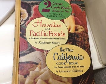 The New California Cook Book / Hawaiian And Pacific Foods 1955 Hardcover