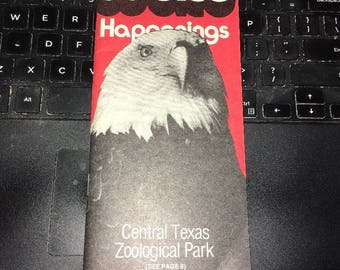 Vintage MAP: 1977 Waco Happenings, Central Texas Zoological Park
