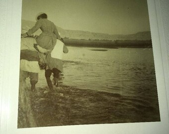 Antique Mounted photo: Nile river Egypt late 1800s/early 1900s