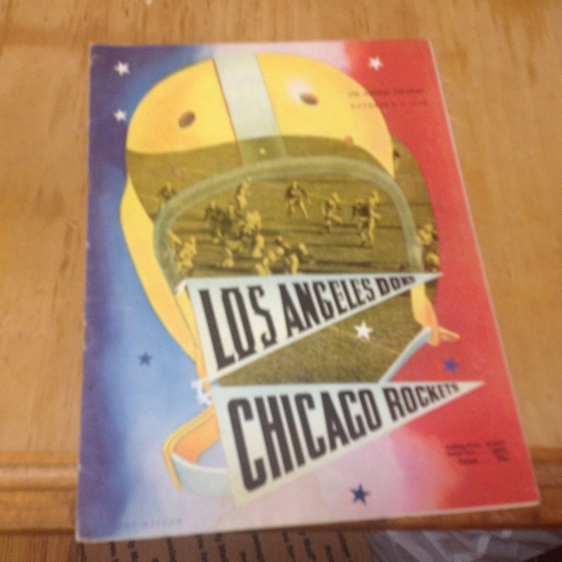 Los Angeles Dons vs.Chicago Rockets Football Program,Oct 8 1948