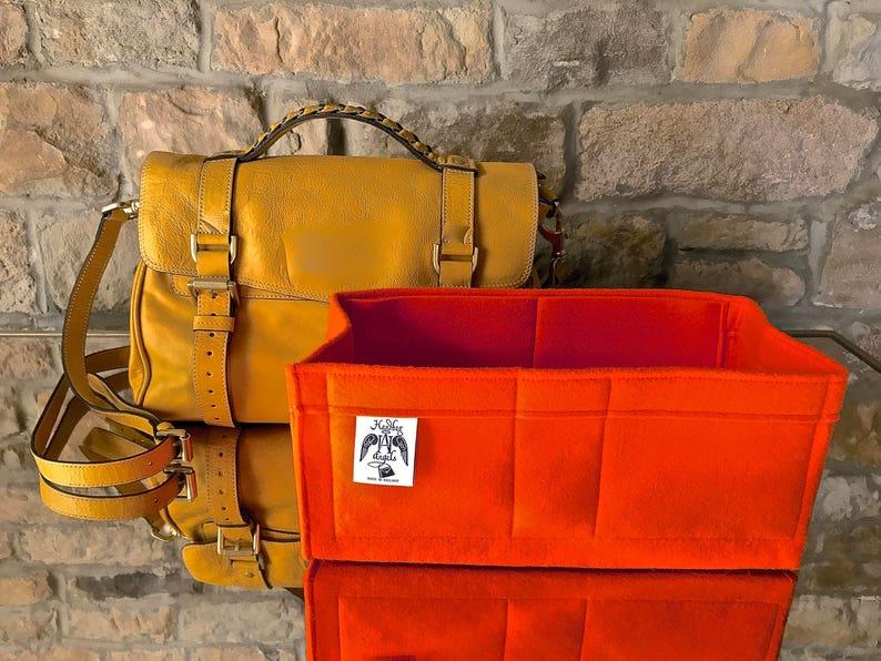 Mulberry REGULAR ALEXA Liner Insert Organiser Wine Orange  443d2c3193618