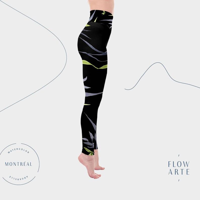 d295418bea24 Black Yoga Leggings Dancer Leggings women s leggings