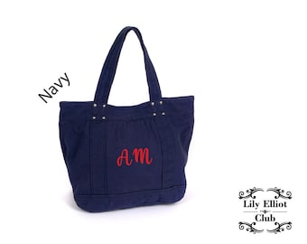 Tote Bag / Monogrammed  Bag / Personalised Gift / Initials / Travel Essential / Stylish Casual