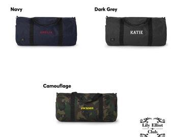Duffel Bag / Personalised name Bag / Personalised Gift / Name / Contrast Bag / Travel Essential / Stylish Casual / School bag