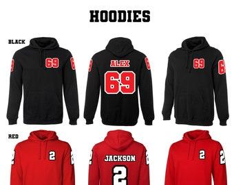 Personalised hoodie, t-shirt, crew-neck, jumper, jersey. custom jumper, birthday gift, unique present