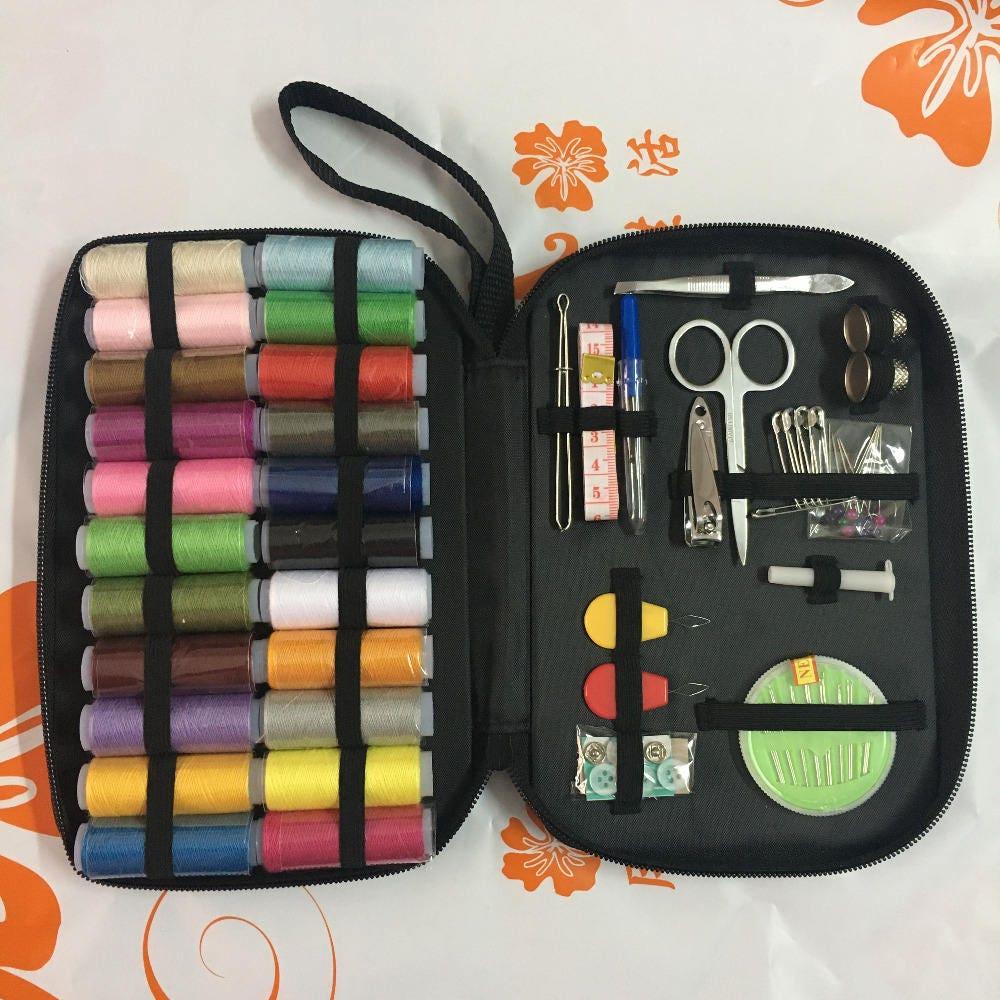 Urijk Portable couture Kits multifonction multifonction multifonction couture boîte accueil accessoires couture essentiel outils fils à coudre ensemble Multi couleurs 5fc7c2