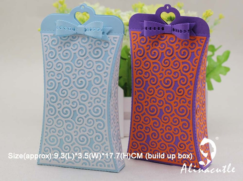 METAL CUTTING DIE cut alinacraft heart pillow gift box bag treat box case Scrapbook paper craft card punch art art cutter die