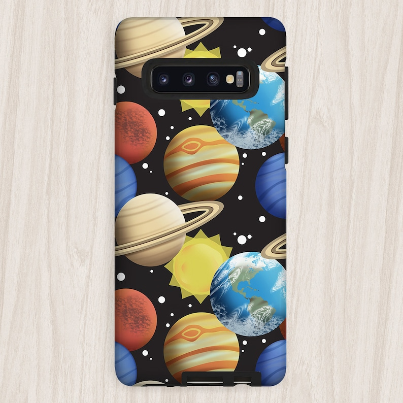 Space Planets Samsung Galaxy Tough Case pattern with planets image 0