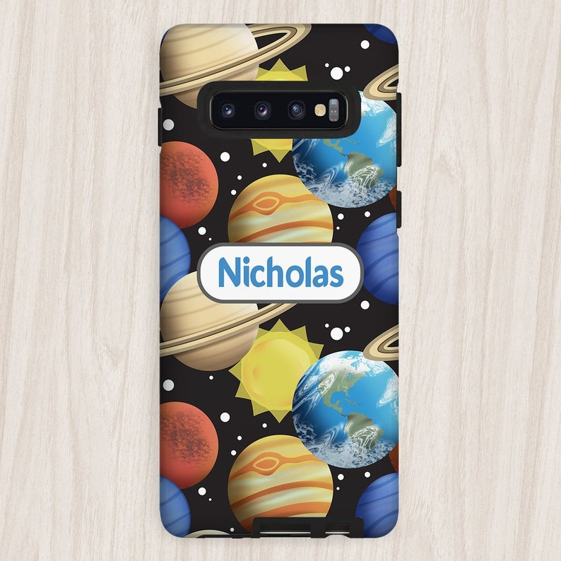 Personalized Space Planets Samsung Galaxy Tough Case pattern image 0