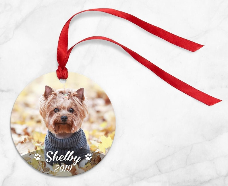 Personalized Pet Ornament Dog or Cat  personalized photo image 0