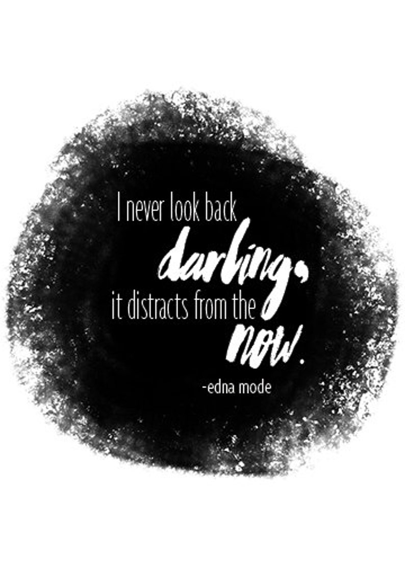 Edna Mode The Incredibles Disney Quote Watercolor Etsy