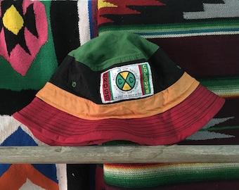fb41c36d108 90s CROSS COLOURS Colour Block Bucket Hat