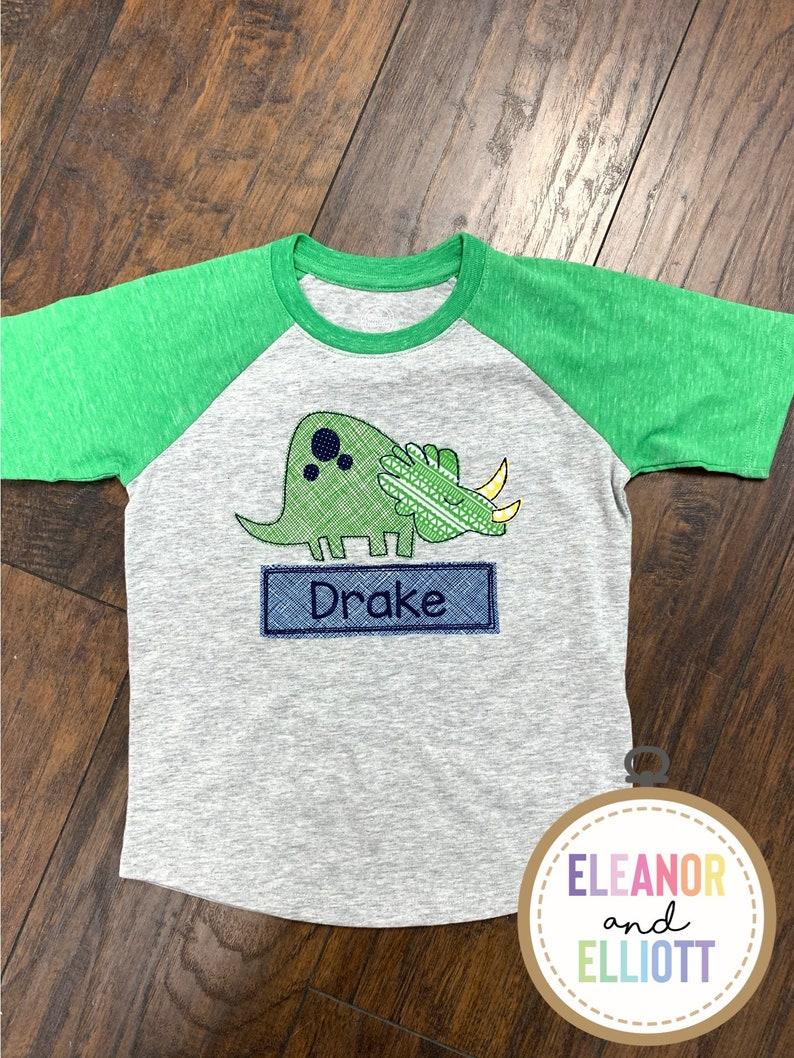 Dinosaur Raglan Shirt image 0