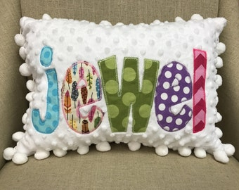 Personalized Pillow Case - Custom Travel Pillow Cover - Throw Pillow Case -Monogrammed Pillow - Name Pillow -