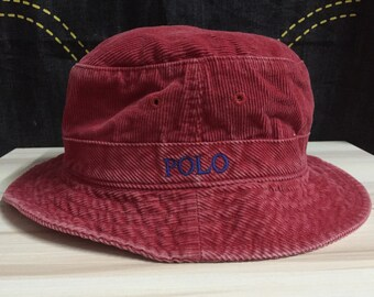Vintage 90s Polo Ralph Lauren bucket hats codroy design polo spell out  embroidery hip hop rappers swag style tommy fila kappa adidas nike gu cc9c9a331611
