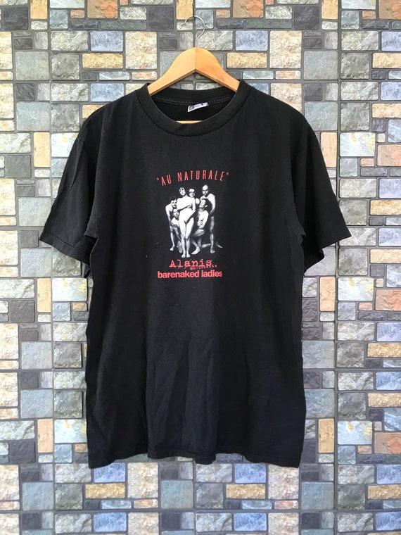 VTG Alanis Morissette Tshirt Barenaked Ladies Au N
