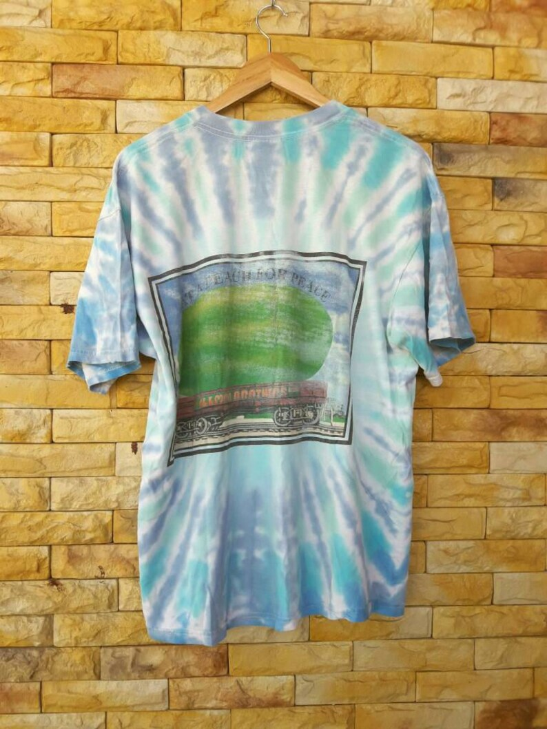Vintage tie die the allmen brothers blue rock,country rock alabama greatful dead the beatles x-large size shirt