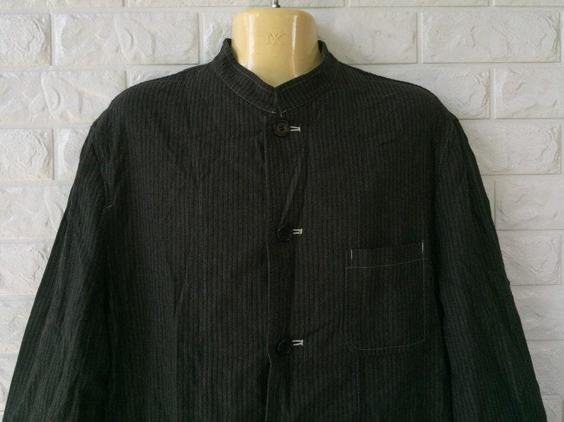 Vintage Japanese Designer COMME des GARCONS HOMME Hikori Worker Jacket Style Sz M Yohji Yamamoto Issey Miyake Rei Kawakubo Junya Watanabe