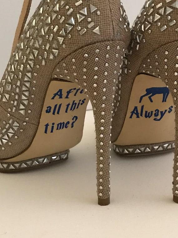 Wedding Shoe Decals Harry Potter Vinyl Harry Potter Wedding Etsy