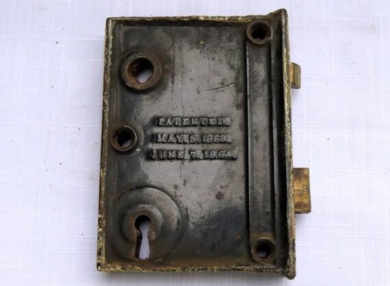Vintage Mortise Lock, 1864 Mortise Lock,cast Iron Mortise,vintage Hardware,Victorian  Door Hardware,door Hardware,vintage Door, From DeerMoonVintage On Etsy ...