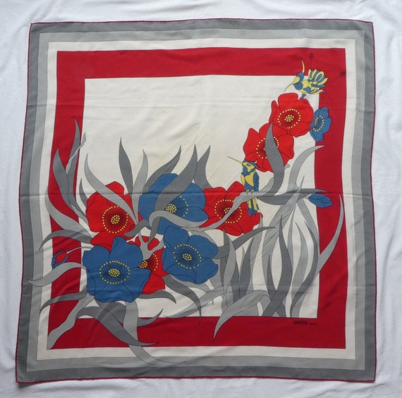 MADAME GRÈS, Paris. Silk Scarf 1970's – Large Flow
