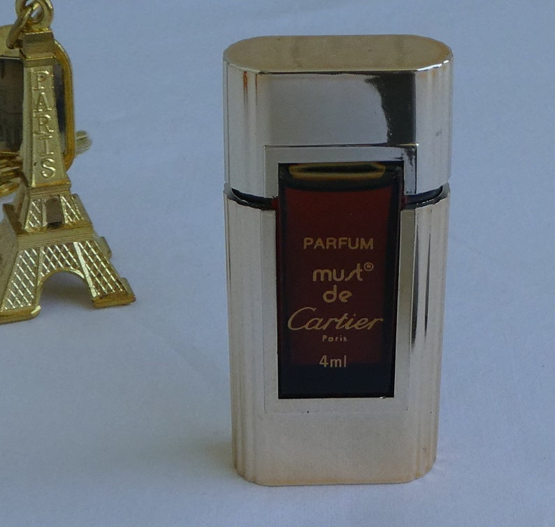 Vintage Must De Cartier Miniature Beautiful Goldtone Bottle Etsy