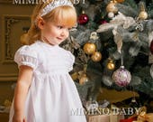 CHARLOTTE Special occasion dress, flower girl dress, christening dress, girls first birthday dress, baby girls lace dress, baby party dress