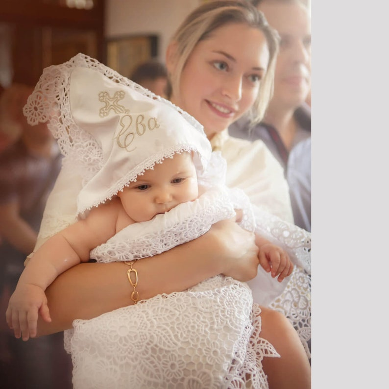 Girl Lace Baptism Blanket Christening Blanket Christening Blanket Girl
