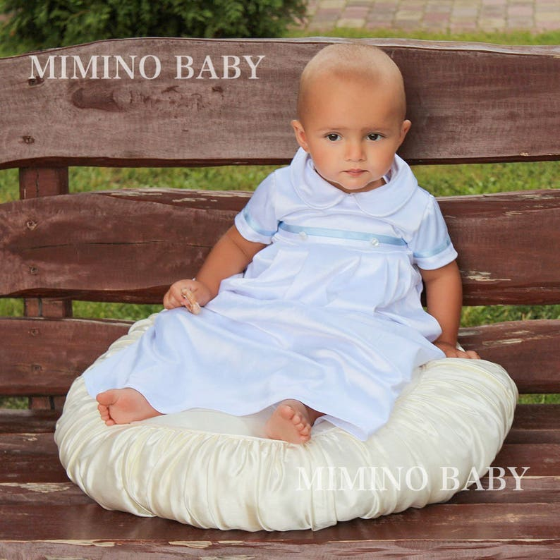 d97c249f5783 Boys Baptism gown Boys Christening Outfit