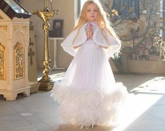First Communion Dress  & Bolero   Holy Communion Dress   Communion Dress