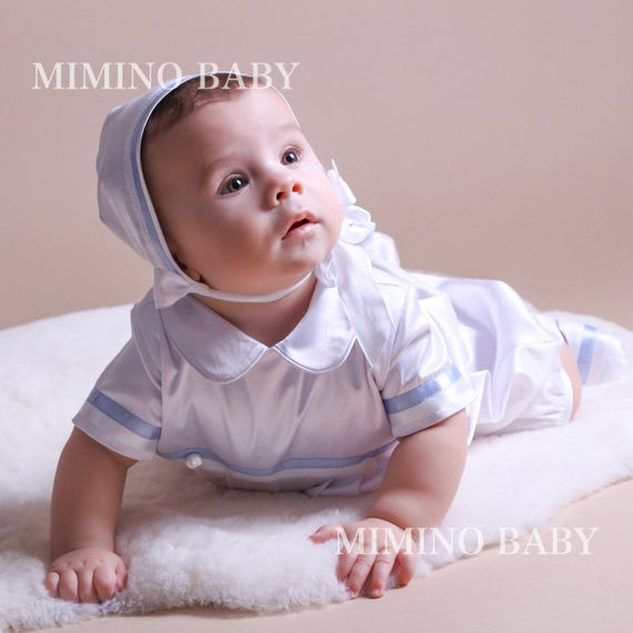 MARK christening hat boy baptism hat Baptism favors  65c7e37d386