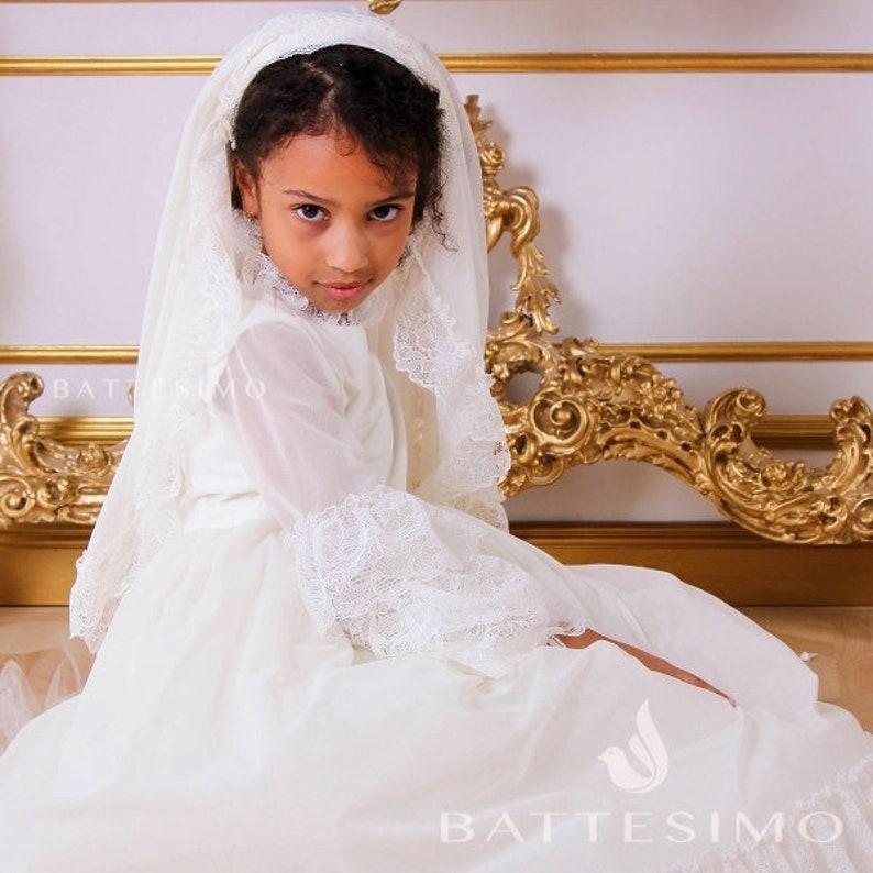First Holy Communion Dress Communion Dress kommunionkleid First Communion Dress /& Veil 1st communion dress
