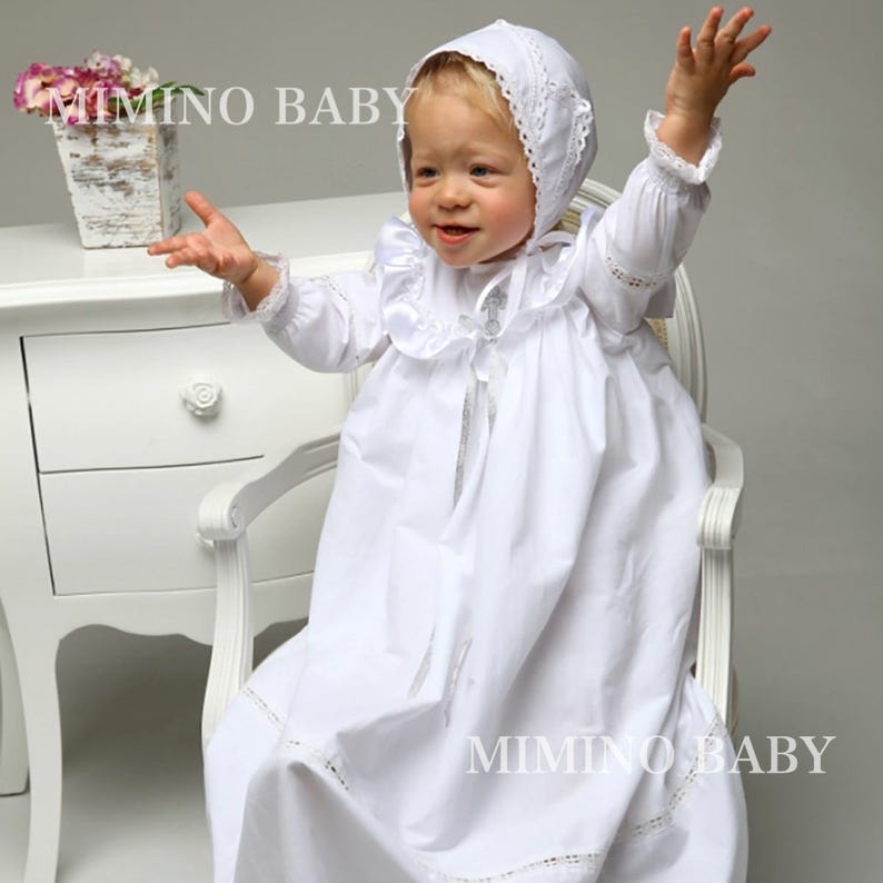 64dbc1fef BAPTISMAL gownboys vintage gown christening gown   Etsy