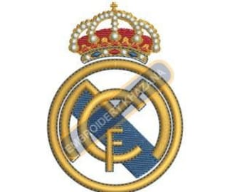 real madrid fc embroidery designs instant download