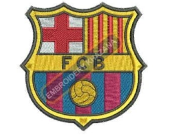 Barcelona fc logo embroidery designs instant download