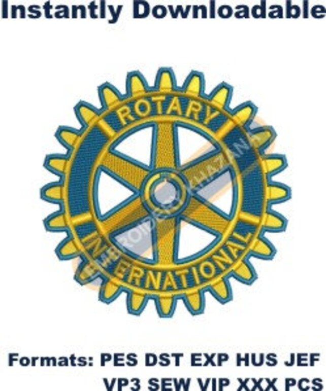 Rotary International Machine Embroidery Designs Instant Etsy