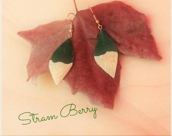 Green Long Drop earrings