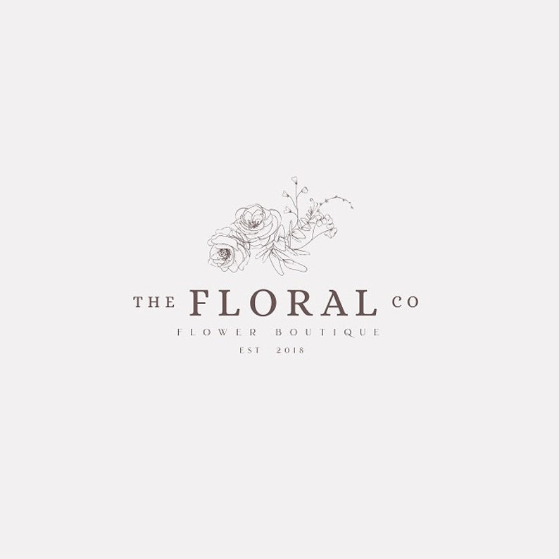 Logo Design Flower Logo Rose Logo Photography Logo Flower Shop Etsy