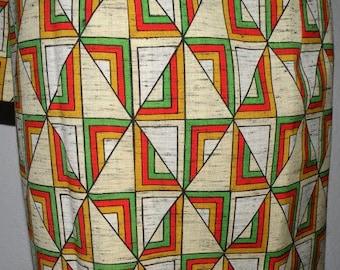 Maxi skirt, cool, wrap skirt, wool skirt, kimono fabric, geometric, skirt, lined, ready size 36-40, Susoyoke style,, S-M, U N I K A T !