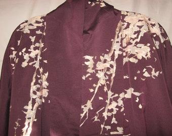 Preciously elegant kimono antique, ART DECO, Urushi, Gold, Silver