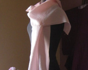 Kimonoseide, 142 cm x 36 cm, noble/sensual, DIY, material, ice pink, for scarves, cushions, panties, top, bra and other treasures