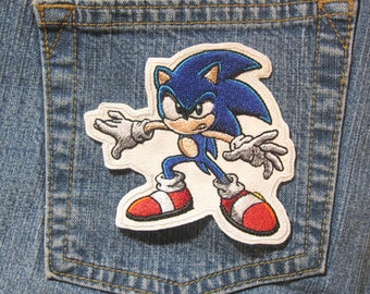 Sonic the Hedgehog Character Sega Genesis Gaming Inspired Novelty Sew On  Iron On Patch d87b54f47018