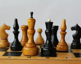 Soviet chess. Soviet Wooden chess. Wooden soviet chess set. Vintage chess. Wooden chess. Soviet vintage. Chess USSR. Vintage chess.