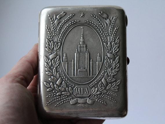 Soviet Melchior Cigarette Case Moscow. German Silv