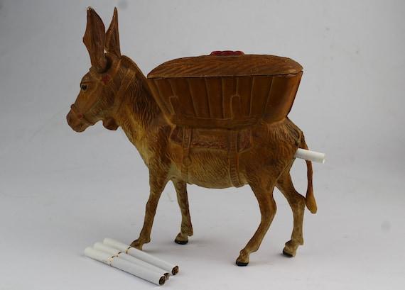 Vintage cigarette holder donkey, tobacco keeper, c