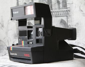 Vintage Polaroid SuperColor 635 Camera, Instant photo, Polaroid Camera, Vintage Camera, Retro Camera, Retro photoCamera, Polaroid 635